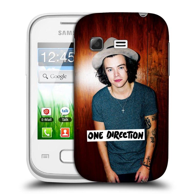 Plastové pouzdro na mobil Samsung Galaxy Pocket HEAD CASE One Direction - Harry (Kryt či obal One Direction Official na mobilní telefon Samsung Galaxy Pocket GT-S5300)