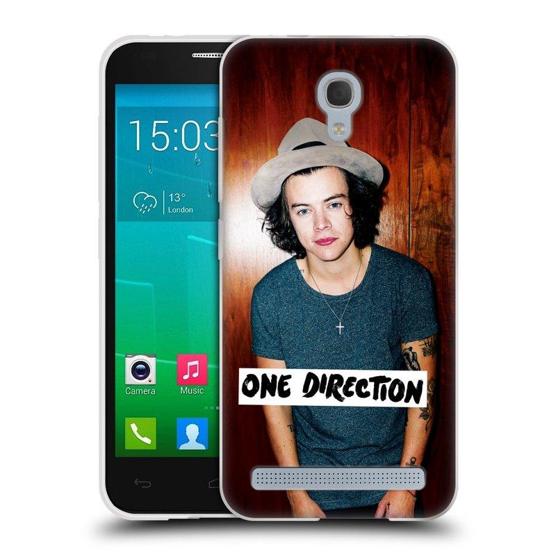 Silikonové pouzdro na mobil Alcatel One Touch Idol 2 Mini S 6036Y HEAD CASE One Direction - Harry (Silikonový kryt či obal One Direction Official na mobilní telefon Alcatel Idol 2 Mini S OT-6036Y)