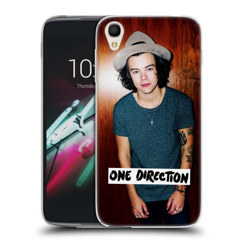 """Silikonové pouzdro na mobil Alcatel One Touch 6039Y Idol 3 HEAD CASE One Direction - Harry (Silikonový kryt či obal One Direction Official na mobilní telefon Alcatel One Touch Idol 3 OT-6039Y s 4,7"""" displejem)"""