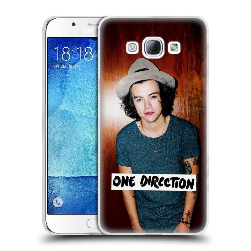 Silikonové pouzdro na mobil Samsung Galaxy A8 HEAD CASE One Direction - Harry (Silikonový kryt či obal One Direction Official na mobilní telefon Samsung Galaxy A8 SM-A800)