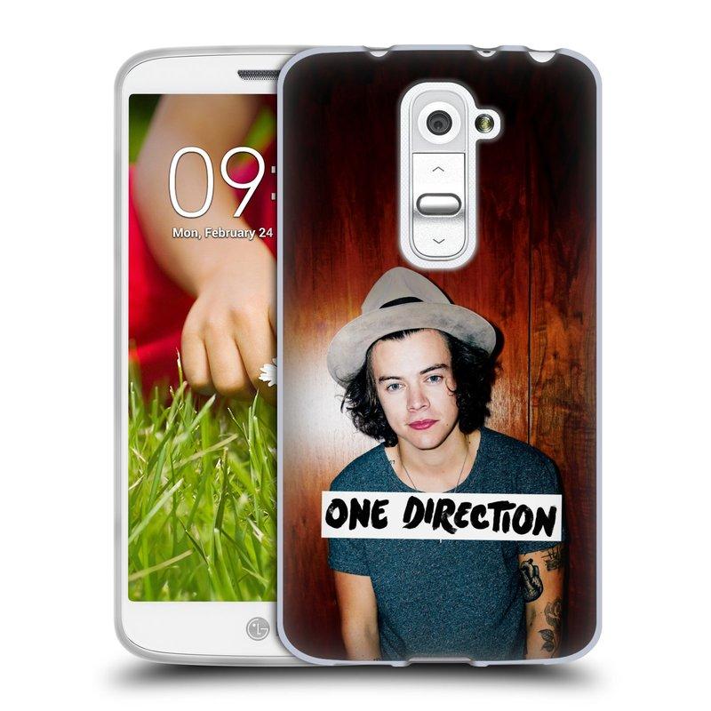 Silikonové pouzdro na mobil LG G2 Mini HEAD CASE One Direction - Harry (Silikonový kryt či obal One Direction Official na mobilní telefon LG G2 Mini D620)