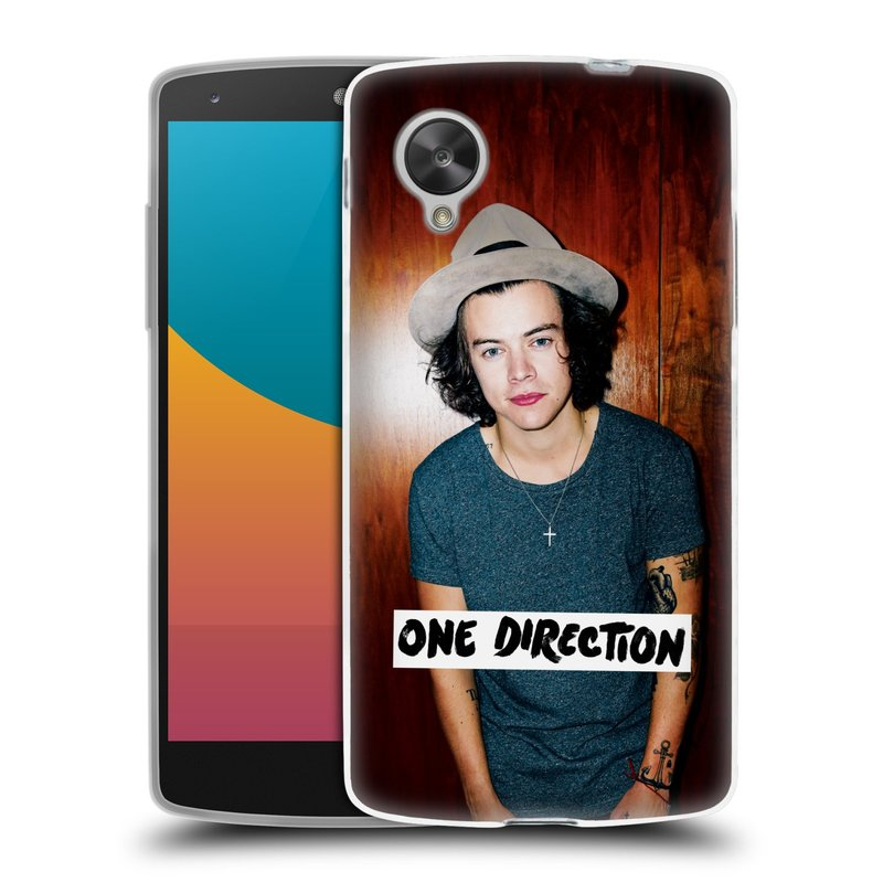 Silikonové pouzdro na mobil LG Nexus 5 HEAD CASE One Direction - Harry (Silikonový kryt či obal One Direction Official na mobilní telefon LG Google Nexus 5 D821)