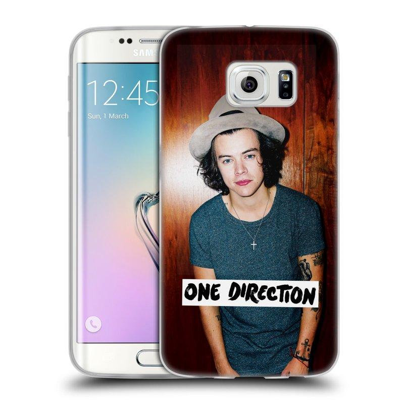 Silikonové pouzdro na mobil Samsung Galaxy S6 Edge HEAD CASE One Direction - Harry (Silikonový kryt či obal One Direction Official na mobilní telefon Samsung Galaxy S6 Edge SM-G925F)