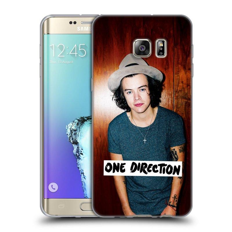 Silikonové pouzdro na mobil Samsung Galaxy S6 Edge Plus HEAD CASE One Direction - Harry (Silikonový kryt či obal One Direction Official na mobilní telefon Samsung Galaxy S6 Edge Plus SM-G928F)