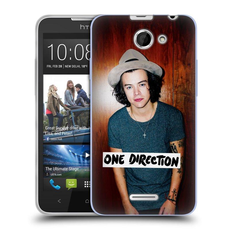 Silikonové pouzdro na mobil HTC Desire 516 HEAD CASE One Direction - Harry (Silikonový kryt či obal One Direction Official na mobilní telefon HTC Desire 516 Dual SIM)