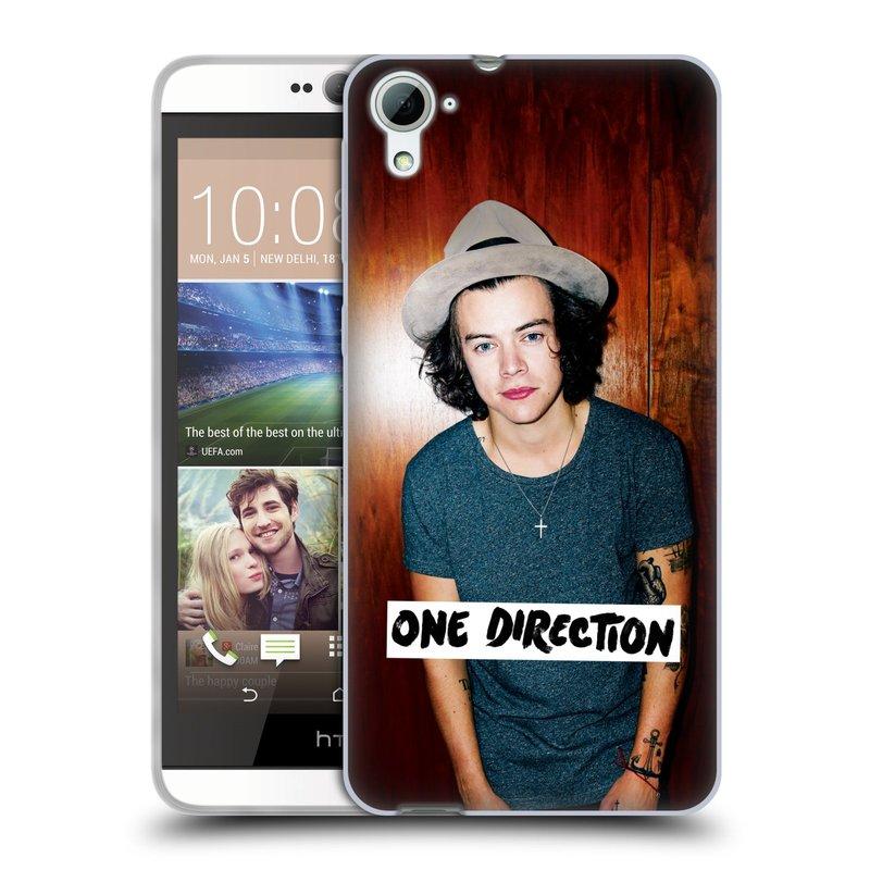 Silikonové pouzdro na mobil HTC Desire 826 HEAD CASE One Direction - Harry (Silikonový kryt či obal One Direction Official na mobilní telefon HTC Desire 826 Dual SIM)