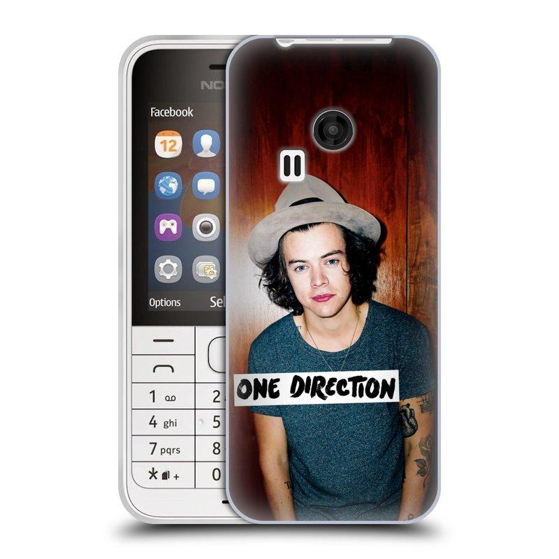 Silikonové pouzdro na mobil Nokia 220 HEAD CASE One Direction - Harry (Silikonový kryt či obal One Direction Official na mobilní telefon Nokia 220 a 220 Dual SIM)