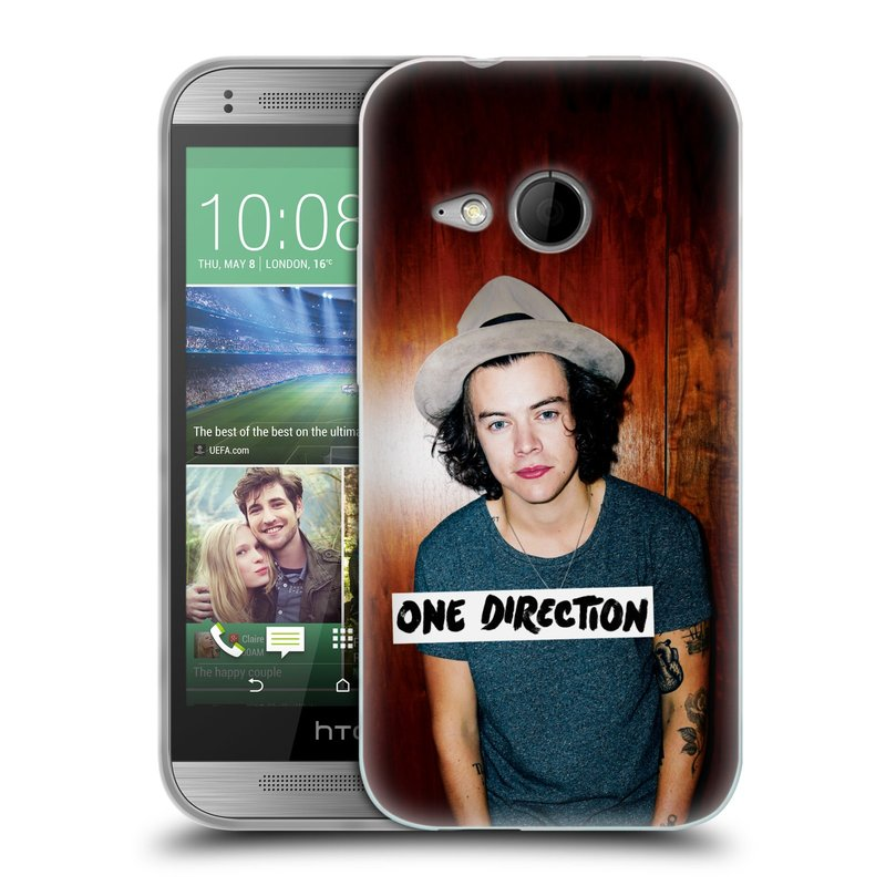 Silikonové pouzdro na mobil HTC ONE Mini 2 HEAD CASE One Direction - Harry (Silikonový kryt či obal One Direction Official na mobilní telefon HTC ONE Mini 2)