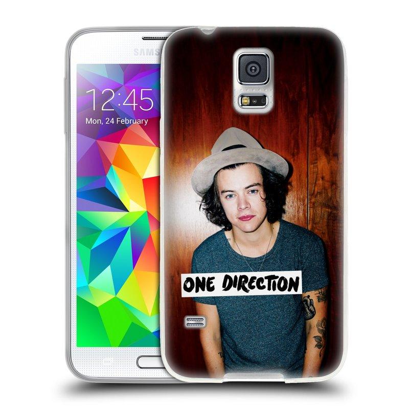 Silikonové pouzdro na mobil Samsung Galaxy S5 HEAD CASE One Direction - Harry (Silikonový kryt či obal One Direction Official na mobilní telefon Samsung Galaxy S5 SM-G900F)