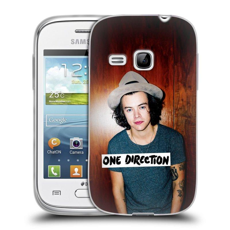 Silikonové pouzdro na mobil Samsung Galaxy Young HEAD CASE One Direction - Harry (Silikonový kryt či obal One Direction Official na mobilní telefon Samsung Galaxy Young GT-S6310)
