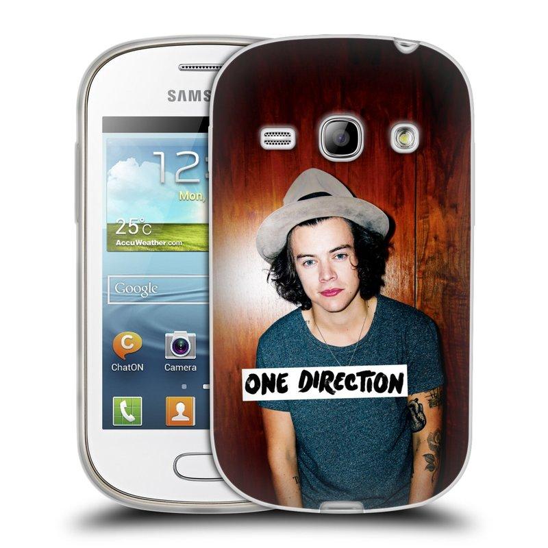 Silikonové pouzdro na mobil Samsung Galaxy Fame HEAD CASE One Direction - Harry (Silikonový kryt či obal One Direction Official na mobilní telefon Samsung Galaxy Fame GT-S6810)