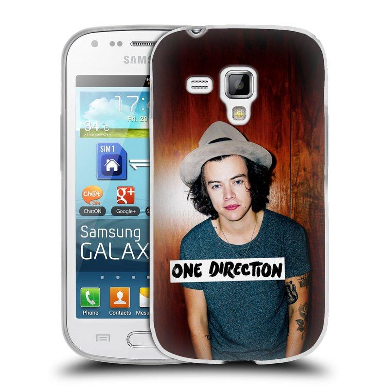 Silikonové pouzdro na mobil Samsung Galaxy Trend HEAD CASE One Direction - Harry (Silikonový kryt či obal One Direction Official na mobilní telefon Samsung Galaxy Trend GT-S7560)