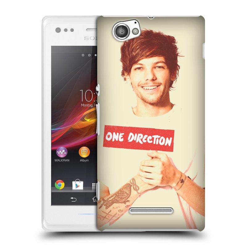Plastové pouzdro na mobil Sony Xperia M C1905 HEAD CASE One Direction - Louis (Kryt či obal One Direction Official na mobilní telefon Sony Xperia M )