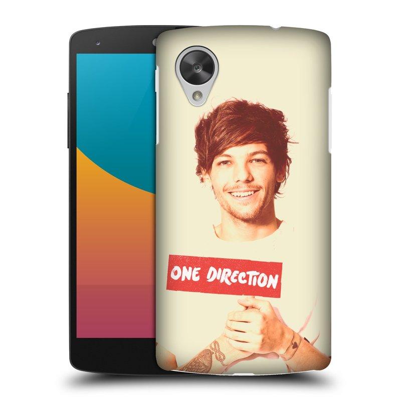 Plastové pouzdro na mobil LG Nexus 5 HEAD CASE One Direction - Louis (Kryt či obal One Direction Official na mobilní telefon LG Google Nexus 5 D821)