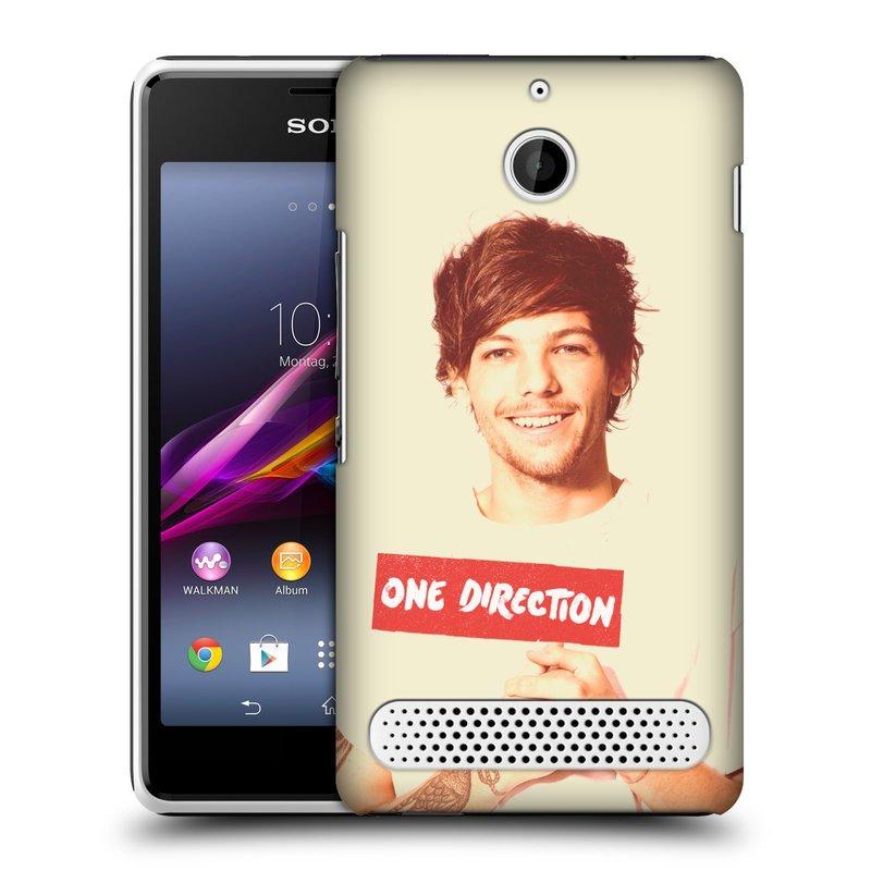 Plastové pouzdro na mobil Sony Xperia E1 D2005 HEAD CASE One Direction - Louis (Kryt či obal One Direction Official na mobilní telefon Sony Xperia E1 a E1 Dual)
