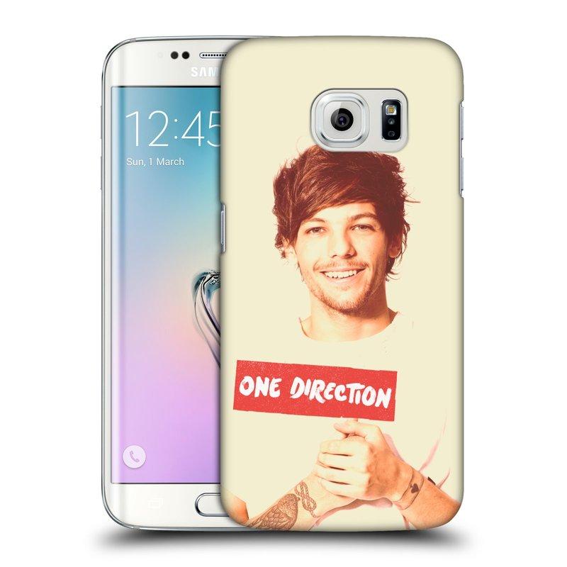 Plastové pouzdro na mobil Samsung Galaxy S6 Edge HEAD CASE One Direction - Louis (Kryt či obal One Direction Official na mobilní telefon Samsung Galaxy S6 Edge SM-G925F)