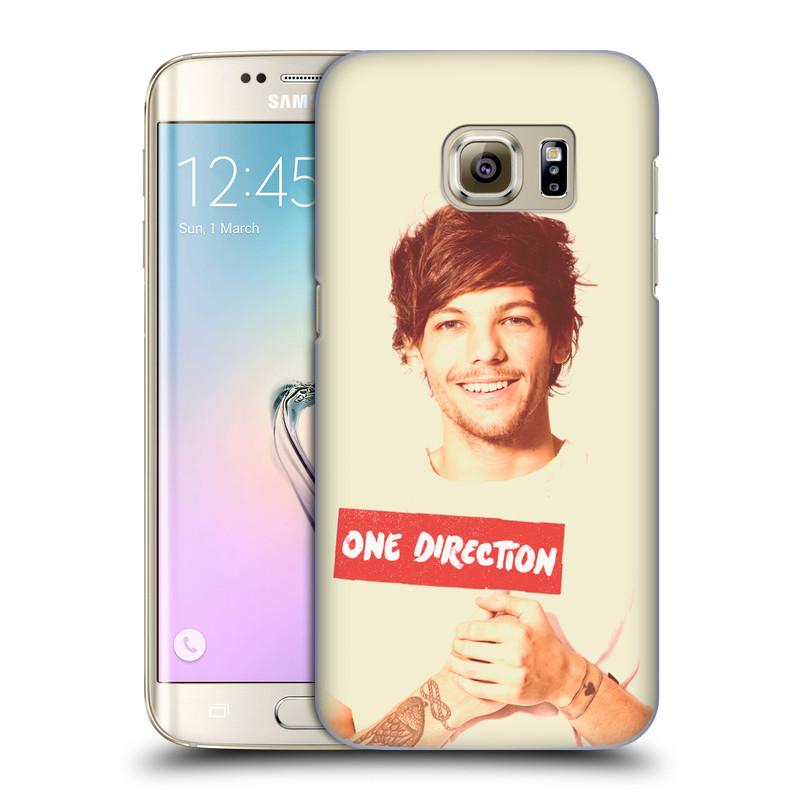 Plastové pouzdro na mobil Samsung Galaxy S7 Edge HEAD CASE One Direction - Louis (Kryt či obal One Direction Official na mobilní telefon Samsung Galaxy S7 Edge SM-G935F)