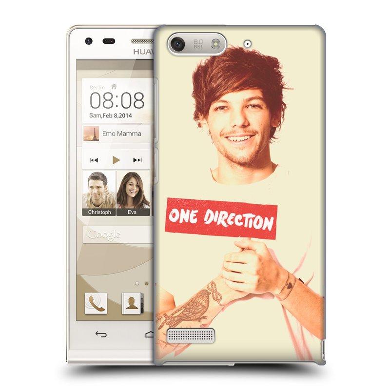 Plastové pouzdro na mobil Huawei Ascend G6 HEAD CASE One Direction - Louis (Kryt či obal One Direction Official na mobilní telefon Huawei Ascend G6 bez LTE)