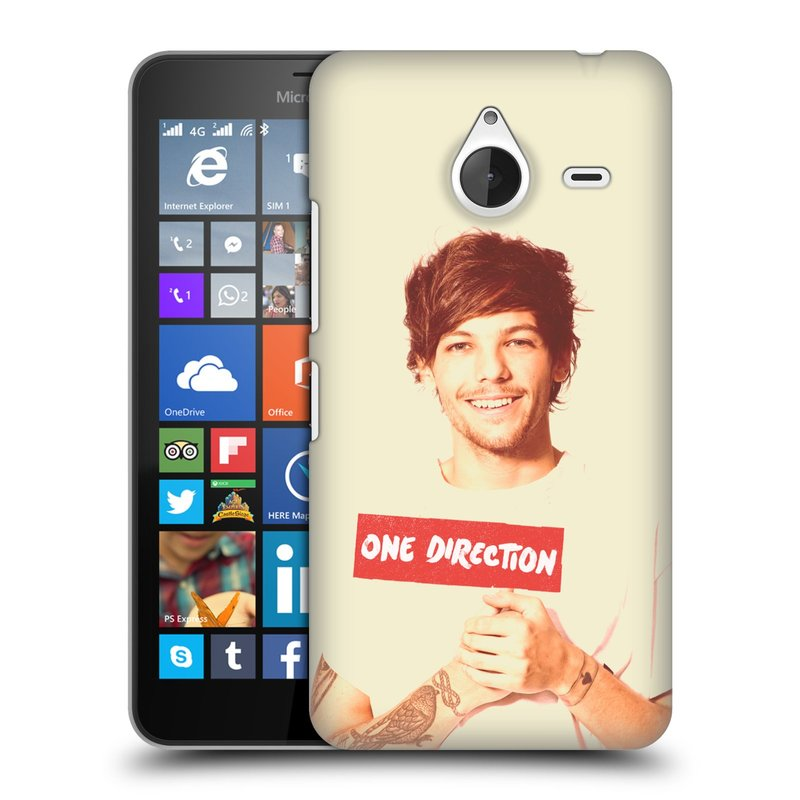 Plastové pouzdro na mobil Microsoft Lumia 640 XL HEAD CASE One Direction - Louis (Kryt či obal One Direction Official na mobilní telefon Microsoft Lumia 640 XL)