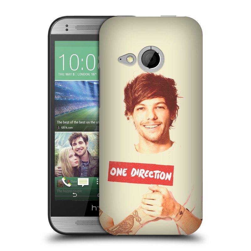 Plastové pouzdro na mobil HTC ONE Mini 2 HEAD CASE One Direction - Louis (Kryt či obal One Direction Official na mobilní telefon HTC ONE Mini 2)