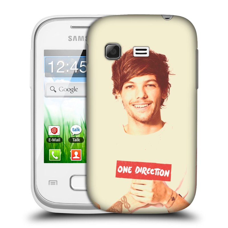 Plastové pouzdro na mobil Samsung Galaxy Pocket HEAD CASE One Direction - Louis (Kryt či obal One Direction Official na mobilní telefon Samsung Galaxy Pocket GT-S5300)
