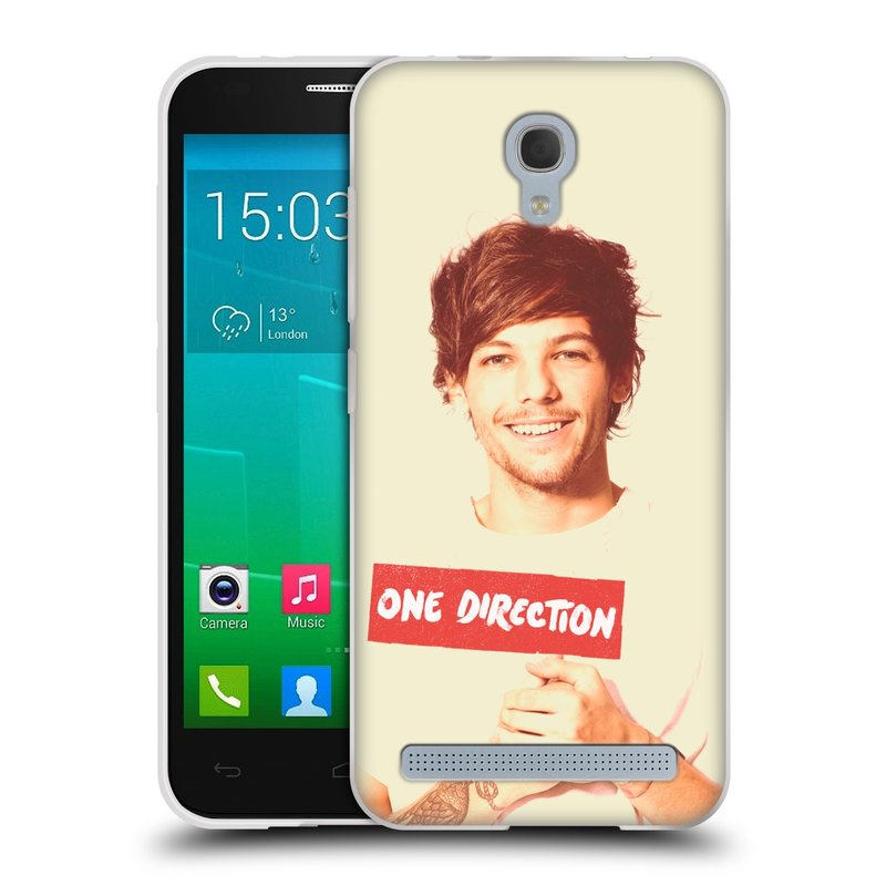 Silikonové pouzdro na mobil Alcatel One Touch Idol 2 Mini S 6036Y HEAD CASE One Direction - Louis (Silikonový kryt či obal One Direction Official na mobilní telefon Alcatel Idol 2 Mini S OT-6036Y)