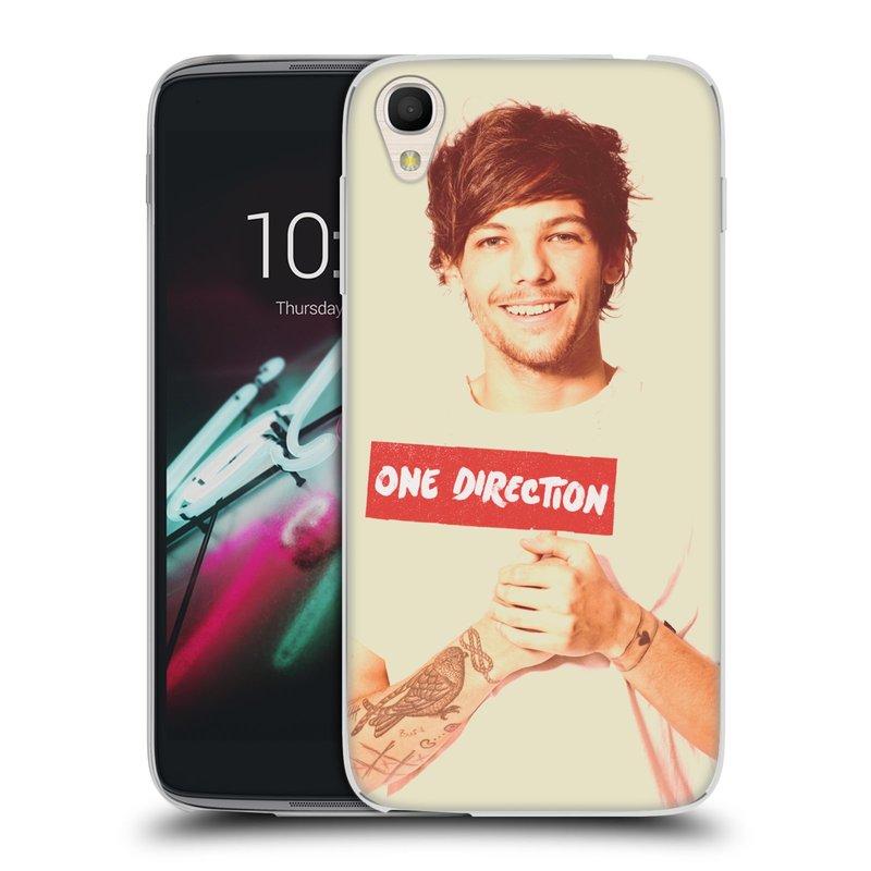 "Silikonové pouzdro na mobil Alcatel One Touch 6039Y Idol 3 HEAD CASE One Direction - Louis (Silikonový kryt či obal One Direction Official na mobilní telefon Alcatel One Touch Idol 3 OT-6039Y s 4,7"" displejem)"