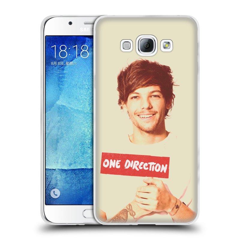 Silikonové pouzdro na mobil Samsung Galaxy A8 HEAD CASE One Direction - Louis (Silikonový kryt či obal One Direction Official na mobilní telefon Samsung Galaxy A8 SM-A800)