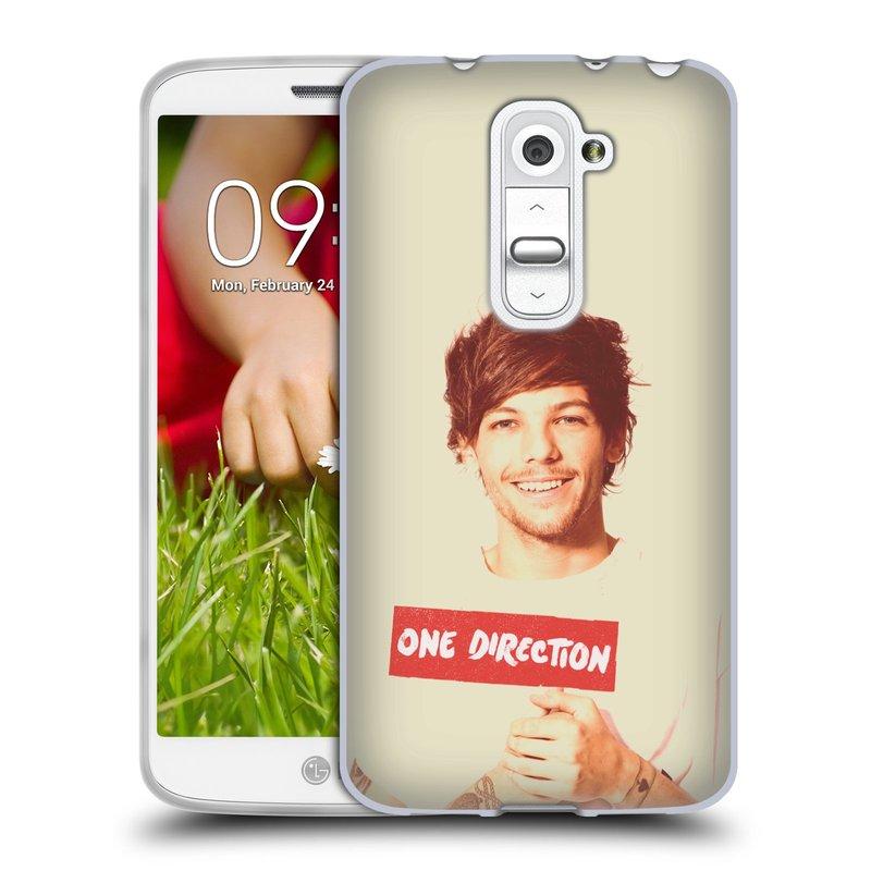 Silikonové pouzdro na mobil LG G2 Mini HEAD CASE One Direction - Louis (Silikonový kryt či obal One Direction Official na mobilní telefon LG G2 Mini D620)