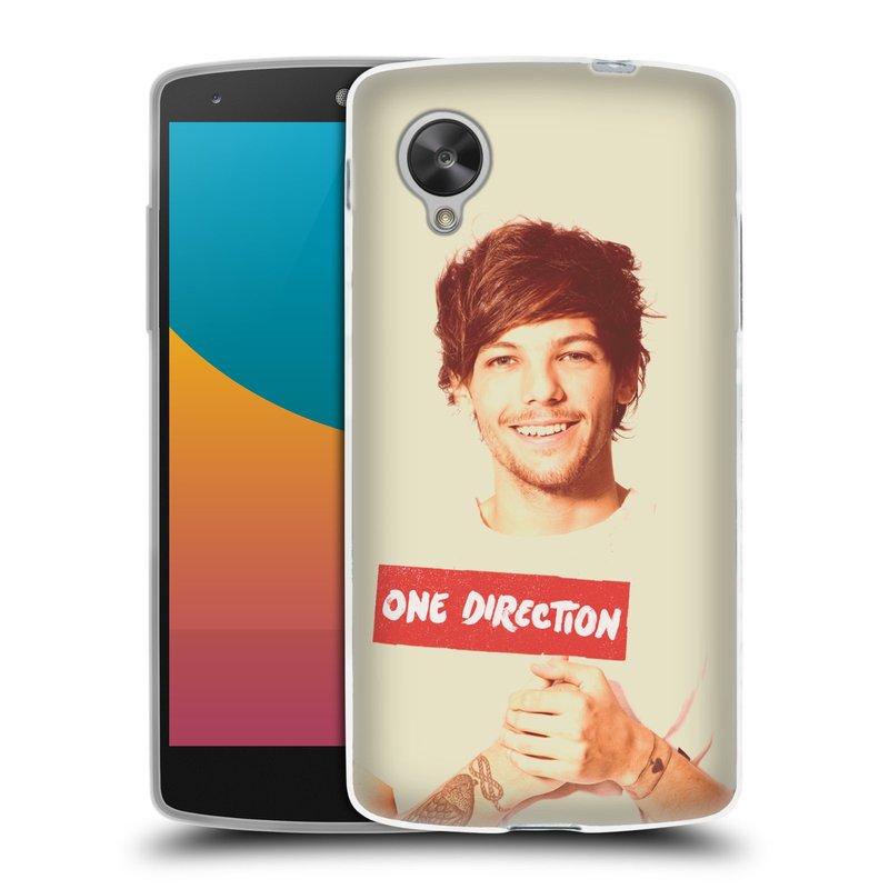 Silikonové pouzdro na mobil LG Nexus 5 HEAD CASE One Direction - Louis (Silikonový kryt či obal One Direction Official na mobilní telefon LG Google Nexus 5 D821)