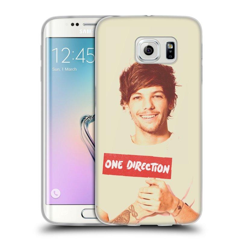 Silikonové pouzdro na mobil Samsung Galaxy S6 Edge HEAD CASE One Direction - Louis (Silikonový kryt či obal One Direction Official na mobilní telefon Samsung Galaxy S6 Edge SM-G925F)