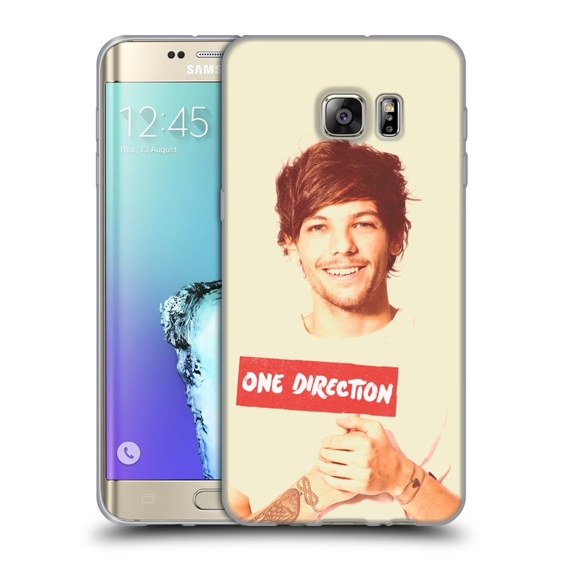 Silikonové pouzdro na mobil Samsung Galaxy S6 Edge Plus HEAD CASE One Direction - Louis (Silikonový kryt či obal One Direction Official na mobilní telefon Samsung Galaxy S6 Edge Plus SM-G928F)
