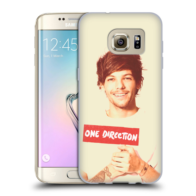 Silikonové pouzdro na mobil Samsung Galaxy S7 Edge HEAD CASE One Direction - Louis (Silikonový kryt či obal One Direction Official na mobilní telefon Samsung Galaxy S7 Edge SM-G935F)