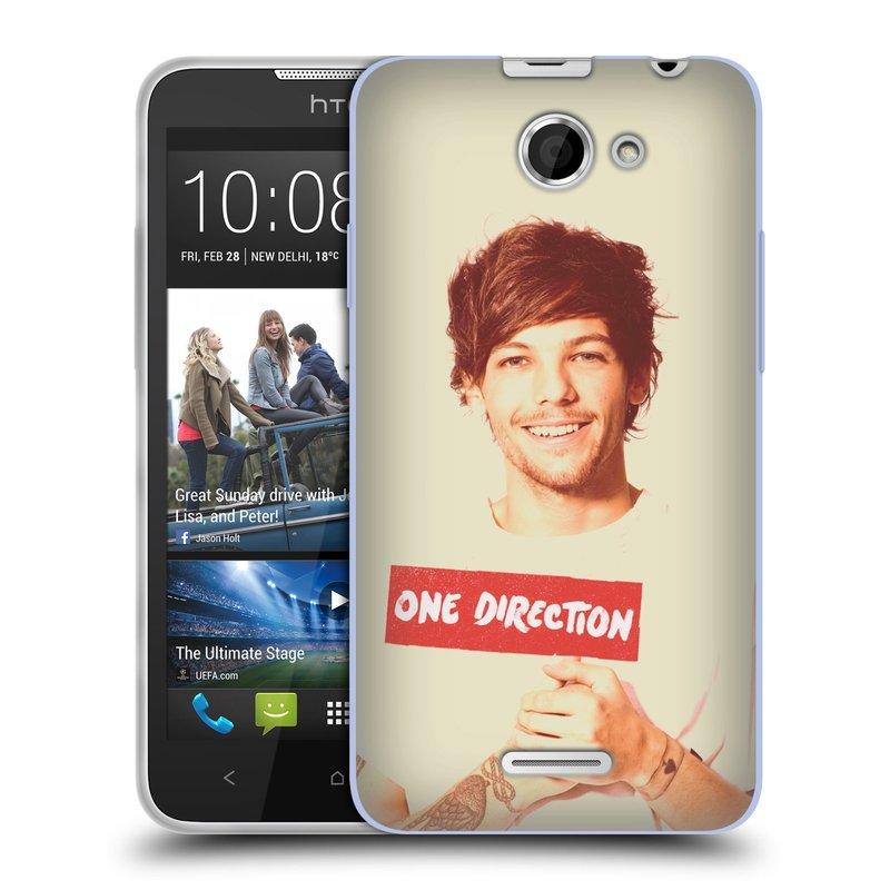 Silikonové pouzdro na mobil HTC Desire 516 HEAD CASE One Direction - Louis (Silikonový kryt či obal One Direction Official na mobilní telefon HTC Desire 516 Dual SIM)