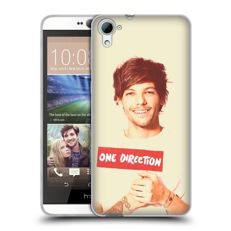 Silikonové pouzdro na mobil HTC Desire 826 HEAD CASE One Direction - Louis (Silikonový kryt či obal One Direction Official na mobilní telefon HTC Desire 826 Dual SIM)