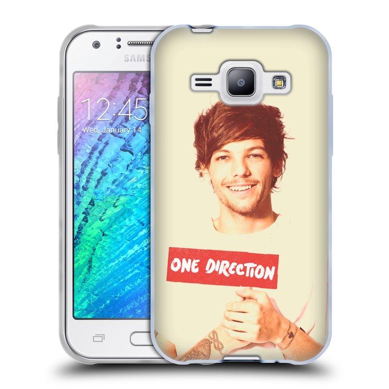 Silikonové pouzdro na mobil Samsung Galaxy J1 HEAD CASE One Direction - Louis (Silikonový kryt či obal One Direction Official na mobilní telefon Samsung Galaxy J1 a J1 Duos)
