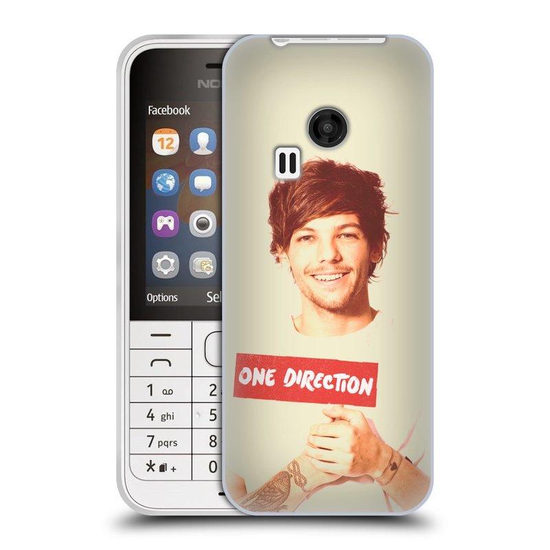 Silikonové pouzdro na mobil Nokia 220 HEAD CASE One Direction - Louis (Silikonový kryt či obal One Direction Official na mobilní telefon Nokia 220 a 220 Dual SIM)