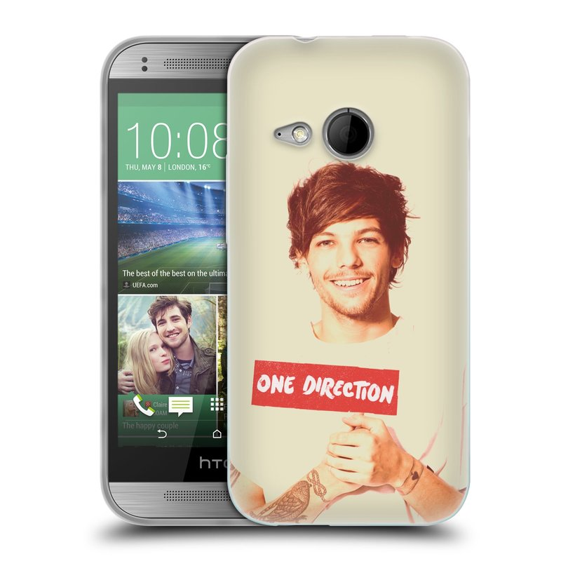 Silikonové pouzdro na mobil HTC ONE Mini 2 HEAD CASE One Direction - Louis (Silikonový kryt či obal One Direction Official na mobilní telefon HTC ONE Mini 2)