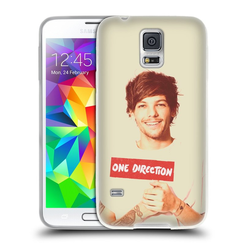 Silikonové pouzdro na mobil Samsung Galaxy S5 HEAD CASE One Direction - Louis (Silikonový kryt či obal One Direction Official na mobilní telefon Samsung Galaxy S5 SM-G900F)