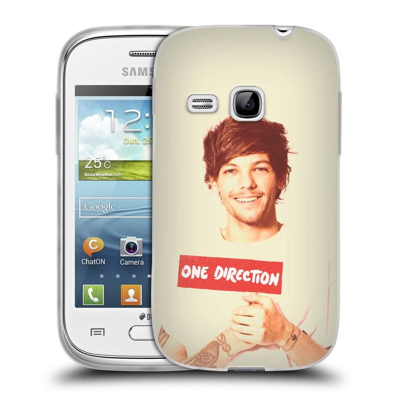 Silikonové pouzdro na mobil Samsung Galaxy Young HEAD CASE One Direction - Louis (Silikonový kryt či obal One Direction Official na mobilní telefon Samsung Galaxy Young GT-S6310)