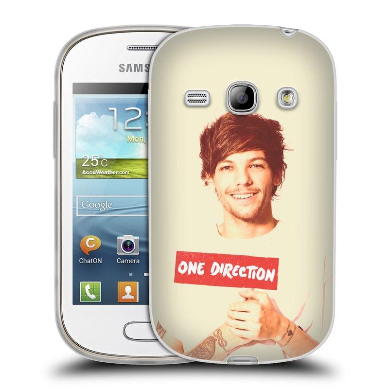 Silikonové pouzdro na mobil Samsung Galaxy Fame HEAD CASE One Direction - Louis (Silikonový kryt či obal One Direction Official na mobilní telefon Samsung Galaxy Fame GT-S6810)