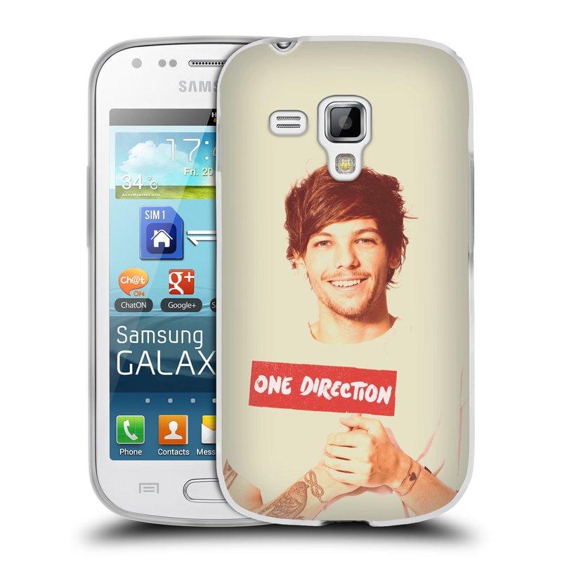 Silikonové pouzdro na mobil Samsung Galaxy Trend HEAD CASE One Direction - Louis (Silikonový kryt či obal One Direction Official na mobilní telefon Samsung Galaxy Trend GT-S7560)