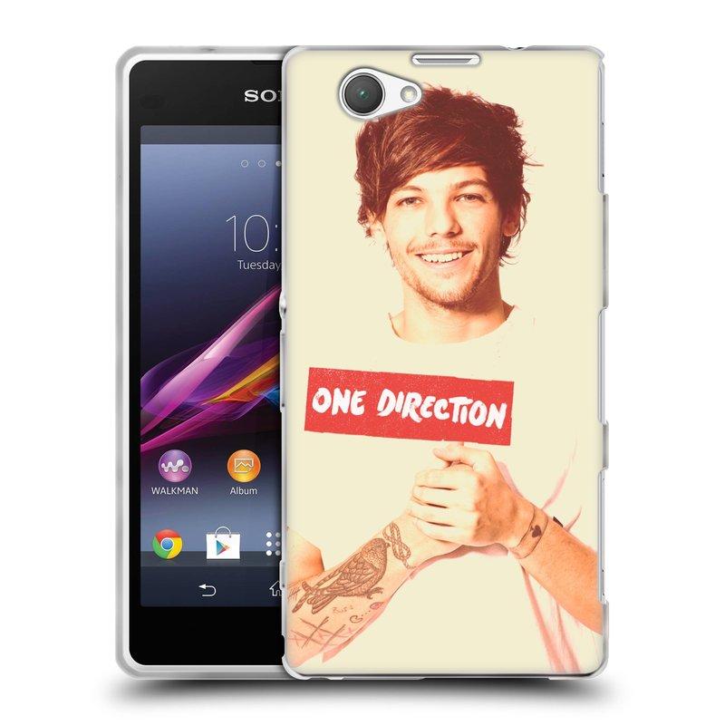 Silikonové pouzdro na mobil Sony Xperia Z1 Compact D5503 HEAD CASE One Direction - Louis (Silikonový kryt či obal One Direction Official na mobilní telefon Sony Xperia Z1 Compact)
