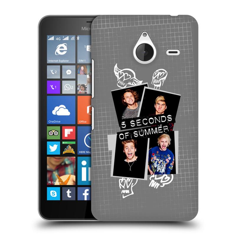 Plastové pouzdro na mobil Microsoft Lumia 640 XL HEAD CASE 5 Seconds of Summer - Band Grey (Plastový kryt či obal na mobilní telefon licencovaným motivem 5 Seconds of Summer pro Microsoft Lumia 640 XL)