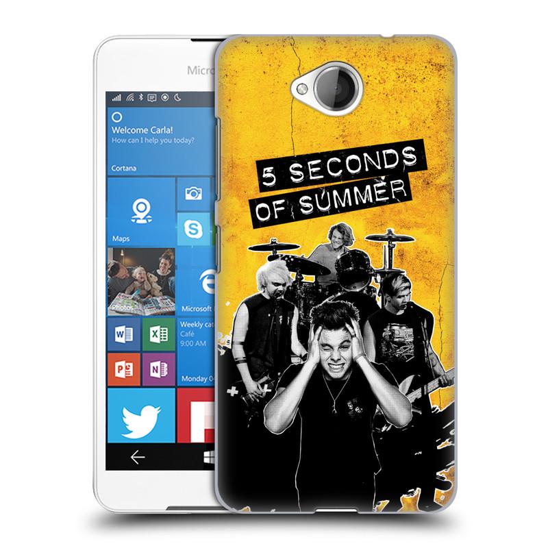 Plastové pouzdro na mobil Microsoft Lumia 650 HEAD CASE 5 Seconds of Summer - Band Yellow (Plastový kryt či obal na mobilní telefon licencovaným motivem 5 Seconds of Summer pro Microsoft Lumia 650)