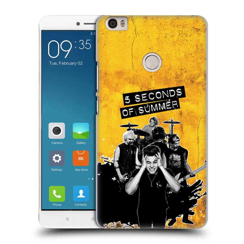 Plastové pouzdro na mobil Xiaomi Mi Max HEAD CASE 5 Seconds of Summer - Band Yellow (Plastový kryt či obal na mobilní telefon licencovaným motivem 5 Seconds of Summer pro Xiaomi Mi Max)