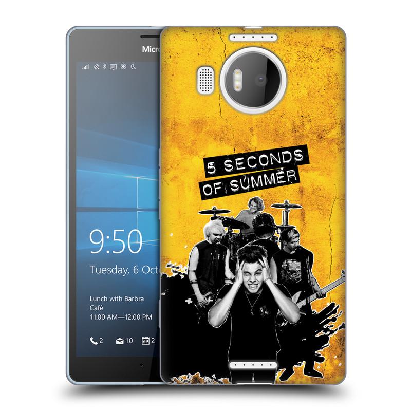 Silikonové pouzdro na mobil Microsoft Lumia 950 XL HEAD CASE 5 Seconds of Summer - Band Yellow (Silikonový kryt či obal na mobilní telefon licencovaným motivem 5 Seconds of Summer pro Microsoft Lumia 950 XL)