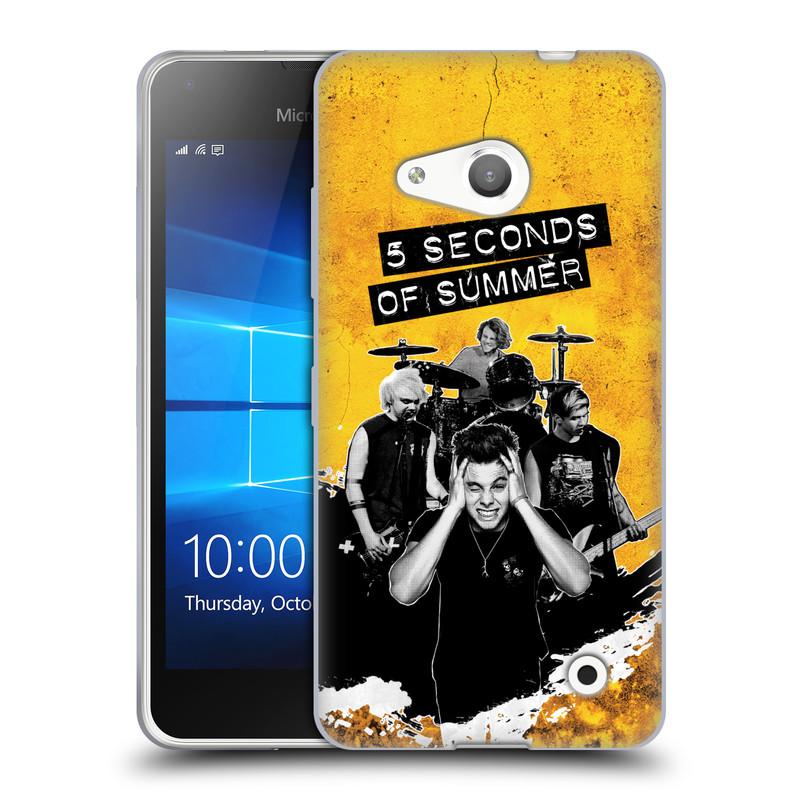 Silikonové pouzdro na mobil Microsoft Lumia 550 HEAD CASE 5 Seconds of Summer - Band Yellow (Silikonový kryt či obal na mobilní telefon licencovaným motivem 5 Seconds of Summer pro Microsoft Lumia 550)
