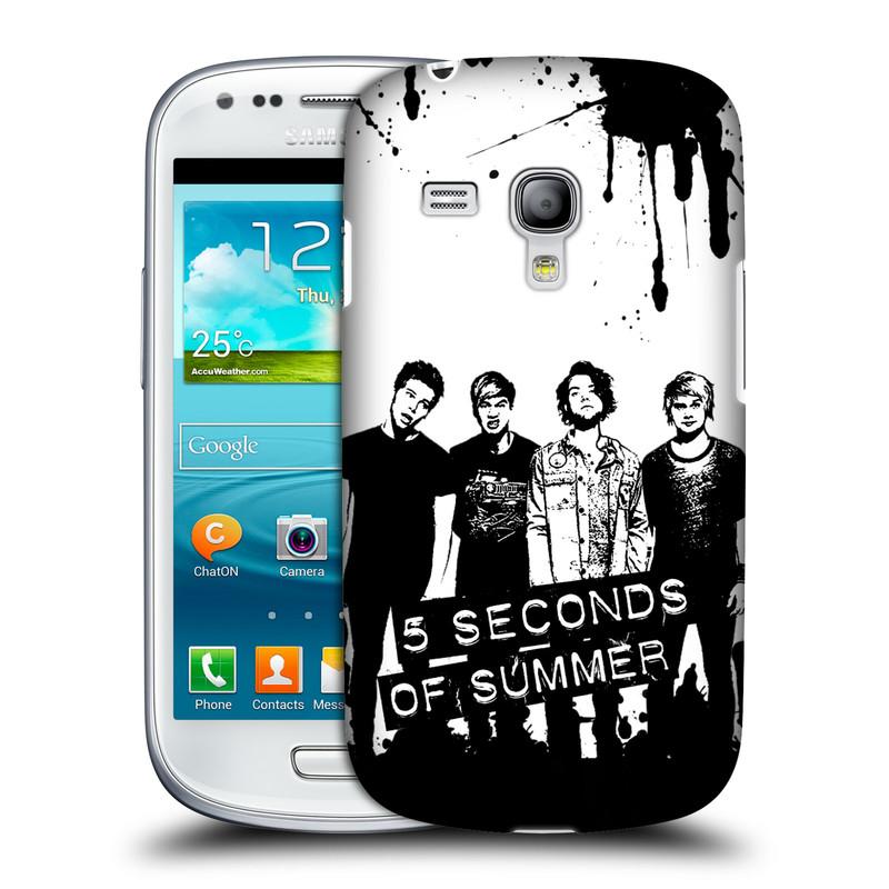 Silikonové pouzdro na mobil Samsung Galaxy S III Mini VE HEAD CASE 5 Seconds of Summer - Band Black and White (Plastový kryt či obal na mobilní telefon licencovaným motivem 5 Seconds of Summer pro Samsung Galaxy S3 Mini VE GT-i8200)