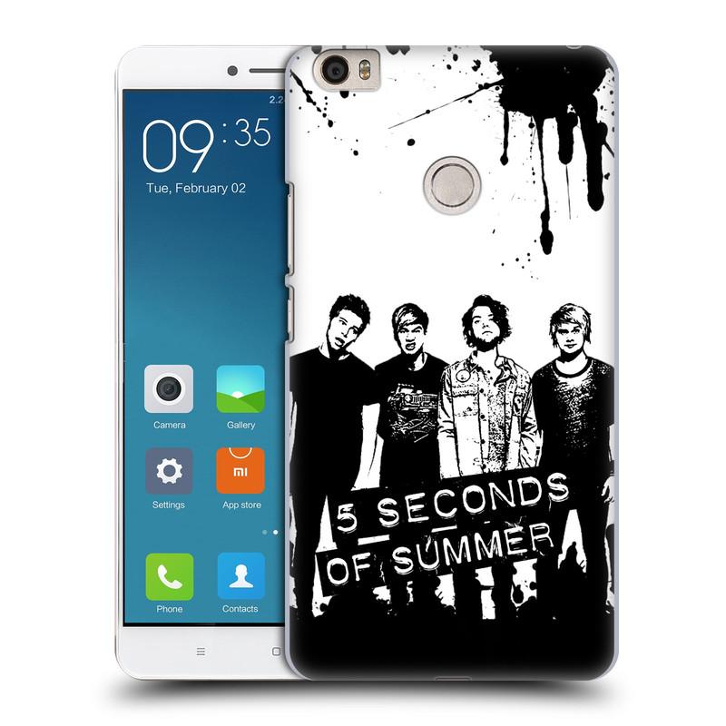 Plastové pouzdro na mobil Xiaomi Mi Max HEAD CASE 5 Seconds of Summer - Band Black and White (Plastový kryt či obal na mobilní telefon licencovaným motivem 5 Seconds of Summer pro Xiaomi Mi Max)